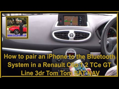 how to pair an iphone to the bluetooth system in a renault clio 1 2 tce gt line 3dr tom tom sat. Black Bedroom Furniture Sets. Home Design Ideas