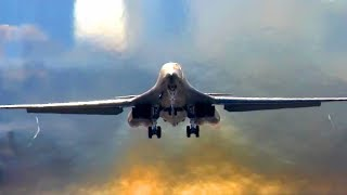 B-1 Bomber In Action - Stunning Beautiful Footages