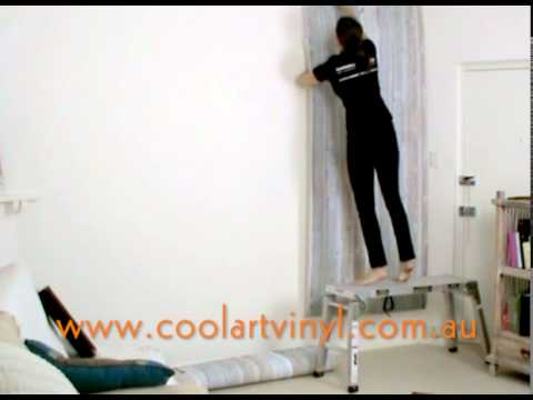 Self Adhesive Wall Paper how to install self adhesive wallpaper with only one person - youtube
