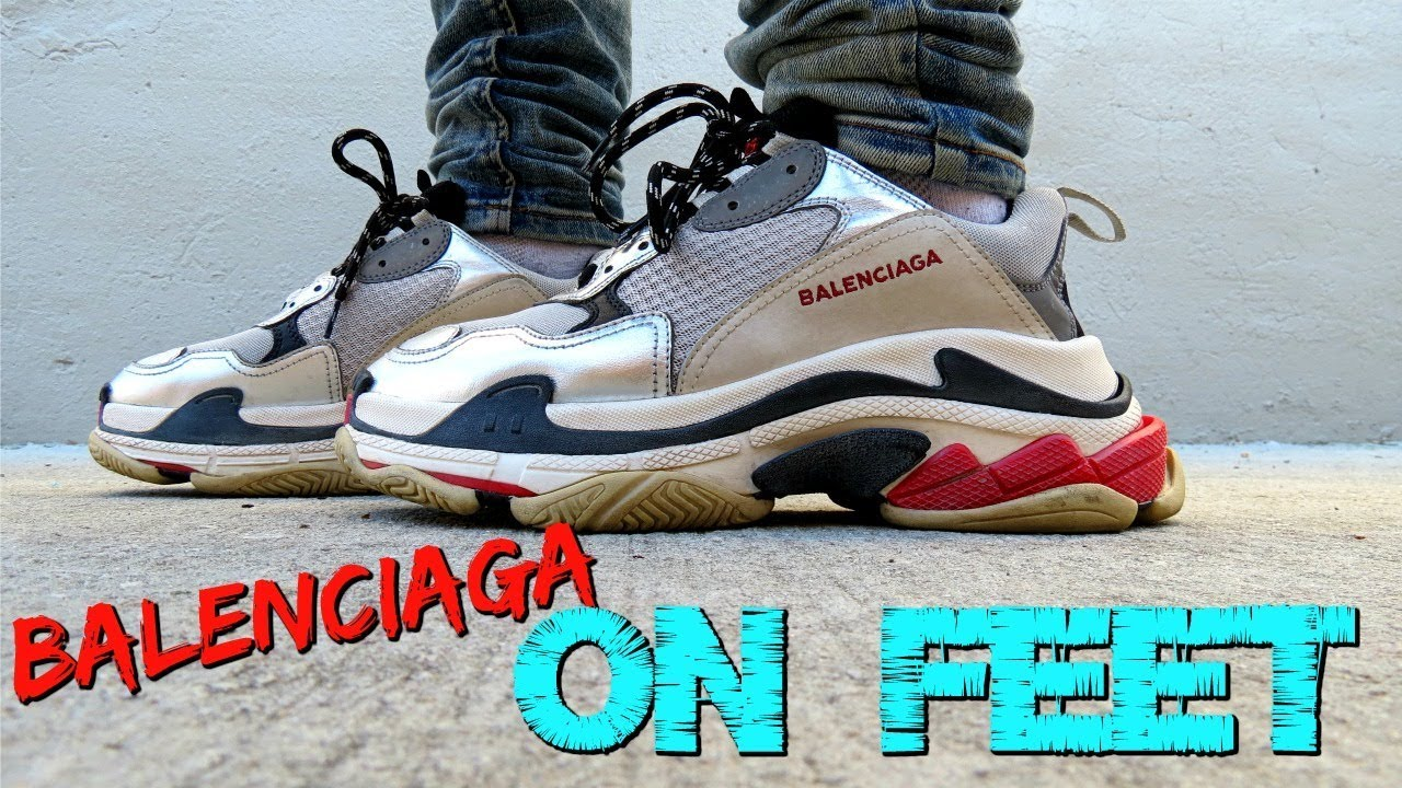 b0b3003ae897 BALENCIAGA TRIPLE S SNEAKER On Feet and in depth review - YouTube