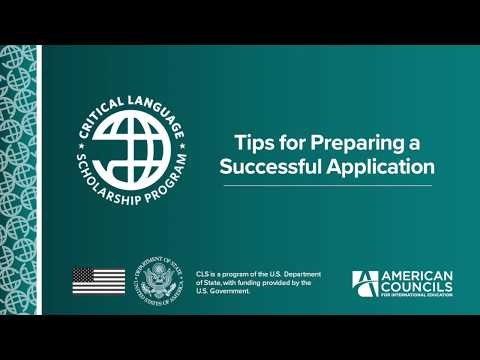 CLS Application Tips (2018-2019)