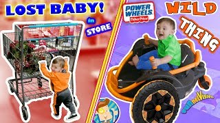 WE LOST OUR BABY while CHRISTMAS SHOPPING! Tickle Haha + POWER WHEELS Wild Thing FUNnel Family