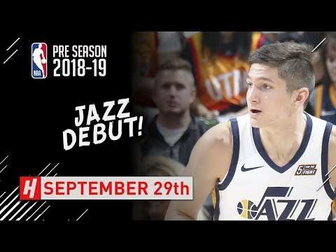 Grayson Allen JAZZ DEBUT Full Highlights vs Perth Wildcats - 2018.09.29 - 19 Pts, 6 Reb!