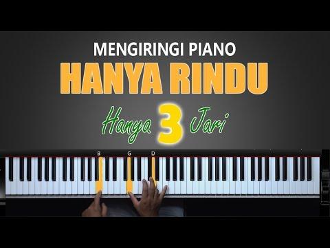 Mengiringi Hanya Rindu Hanya 3 Jari Belajar Piano Keyboard Youtube