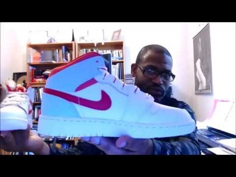 7a175b0d55b Air Jordan 1 Mid GS 'Topaz Mist' 555112-104 White/University Red ...