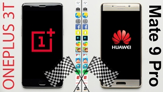 OnePlus 3T vs. Huawei Mate 9 Pro Speed Test