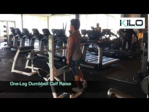 One Leg Dumbbell Calf Raise