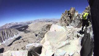 Mount Whitney hike, just after trail crest, June 18, 2012.