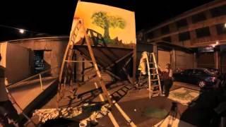 LA MURAL FRONT, Stuck 731, Life, Araceli Arreola, graffiti, time lapse