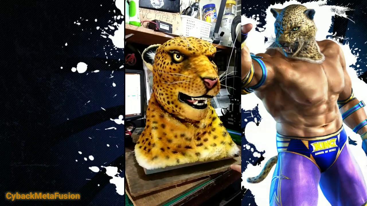 King Cosplay Mask Based On Tekken Game Youtube