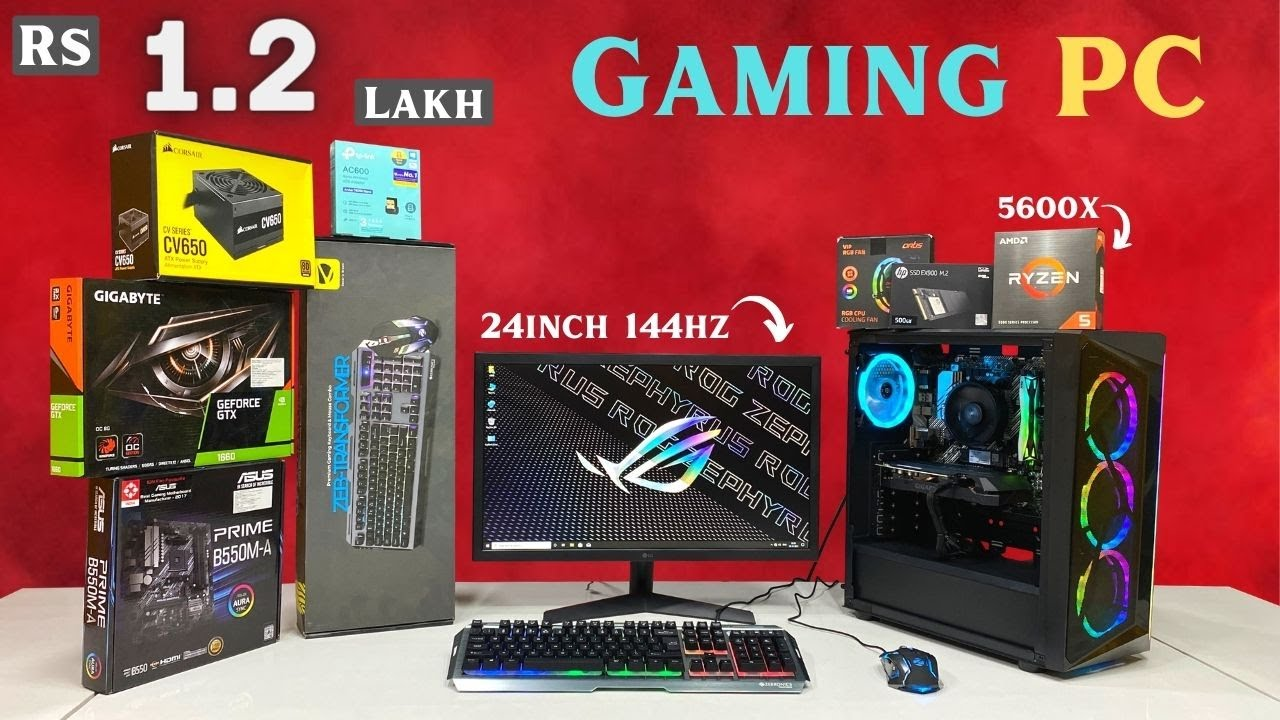 Rs1.2 Lakh Full Gaming PC Build | GTX 1660 | 5600X | Kanchan Lata (Gujrat) | 9532777615 | Mr Pc Wale