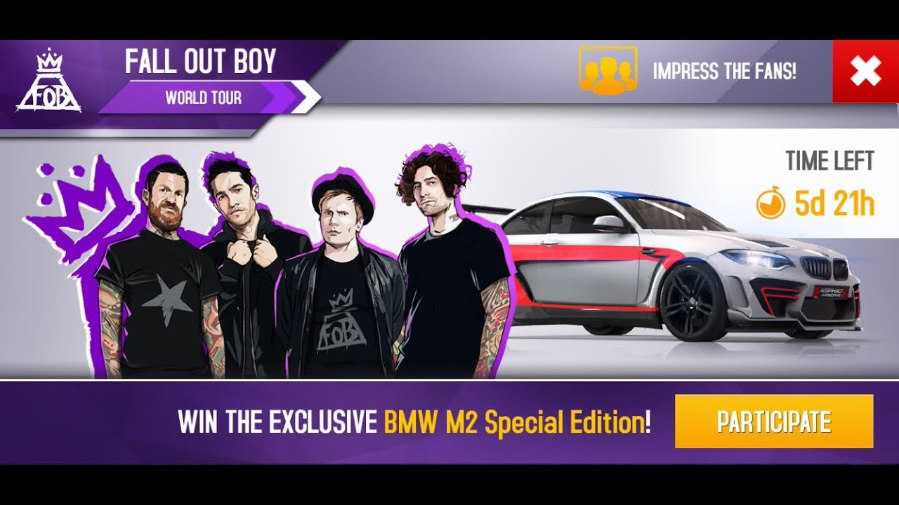 Asphalt 8 Fall Out Boy New Update Bmw M2 Special Edition Must Watch Youtube