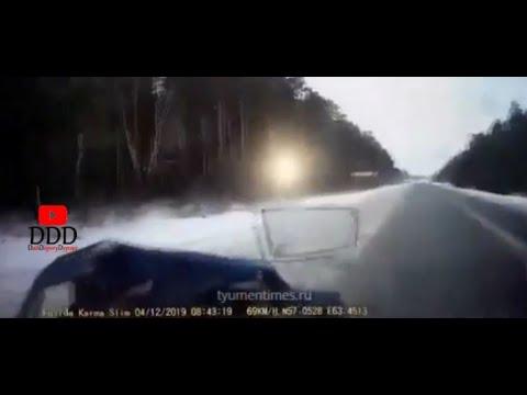 Момент смертельного ДТП 04.12.2019 Екатеринбург-Тюмень Семерка под фуру