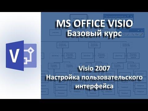 Visio 2007. Настройка пользовательского интерфейса.