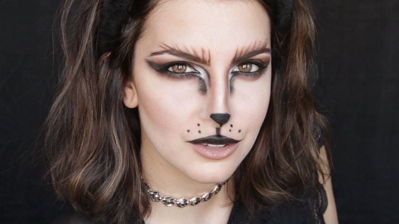 cat makeup halloween chat maquillage youtube. Black Bedroom Furniture Sets. Home Design Ideas