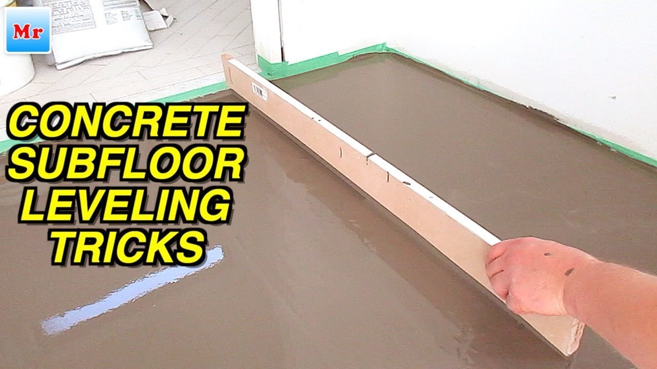 Concrete Floor Leveling Tricks With