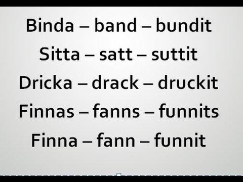 Starka eller oregelbundna verb | Dricka drack druckit | Swedish2go | Studera svenska from YouTube · Duration:  2 minutes 49 seconds