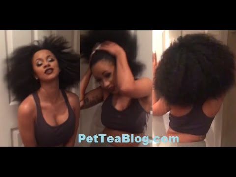 Cardi B Shows Her Afro Pride Youtube