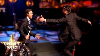 James McAvoy AND Mark Ruffalo Ride Unicycles Round The Studio - The Graham Norton Show