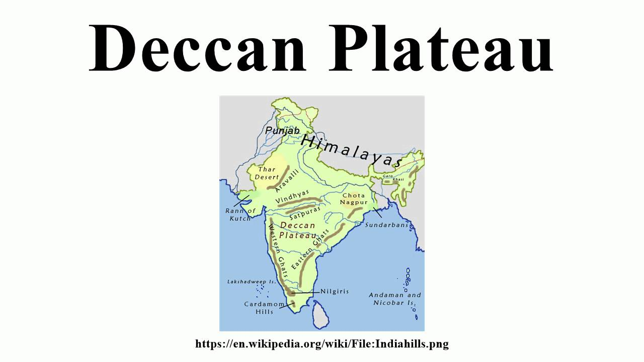 Deccan Plateau Located In India Map