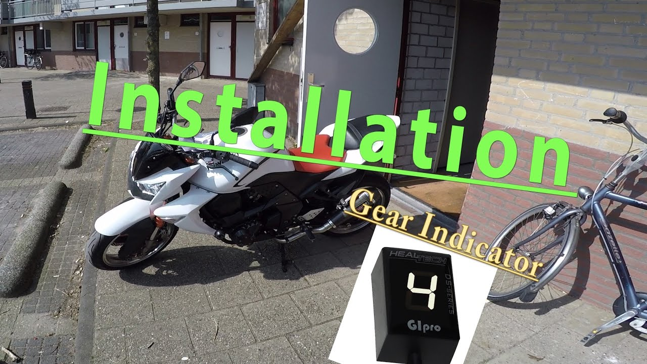 How to install : Gipro Gear Indicator DS on a Kawasaki Z1000(2008) PLUS  some excessive testing