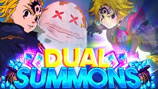 SO MANY SSRS!!! DEMON MELIODAS DUAL SUMMONS! | Seven Deadly Sins: Grand Cross