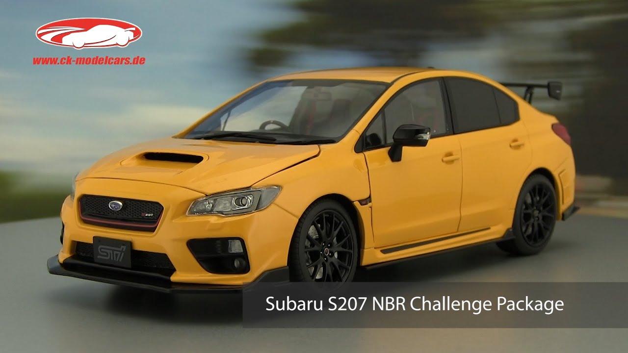 Subaru S207 NBR Challenge Package Baujahr 2015 gelb 1:18 SunStar