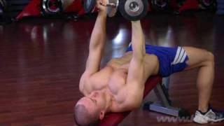 Trening klatki piersiowej - [ www.kfd.pl ] - Rozpiętki na ławce skos dolny - tutorial