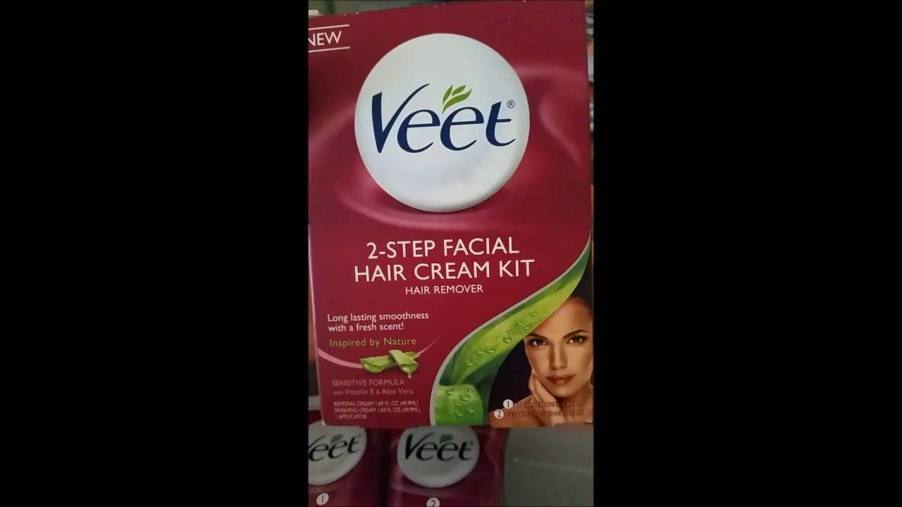 Veet 2 Step Facial Hair Cream Kit Hair Remover Demo Review Youtube