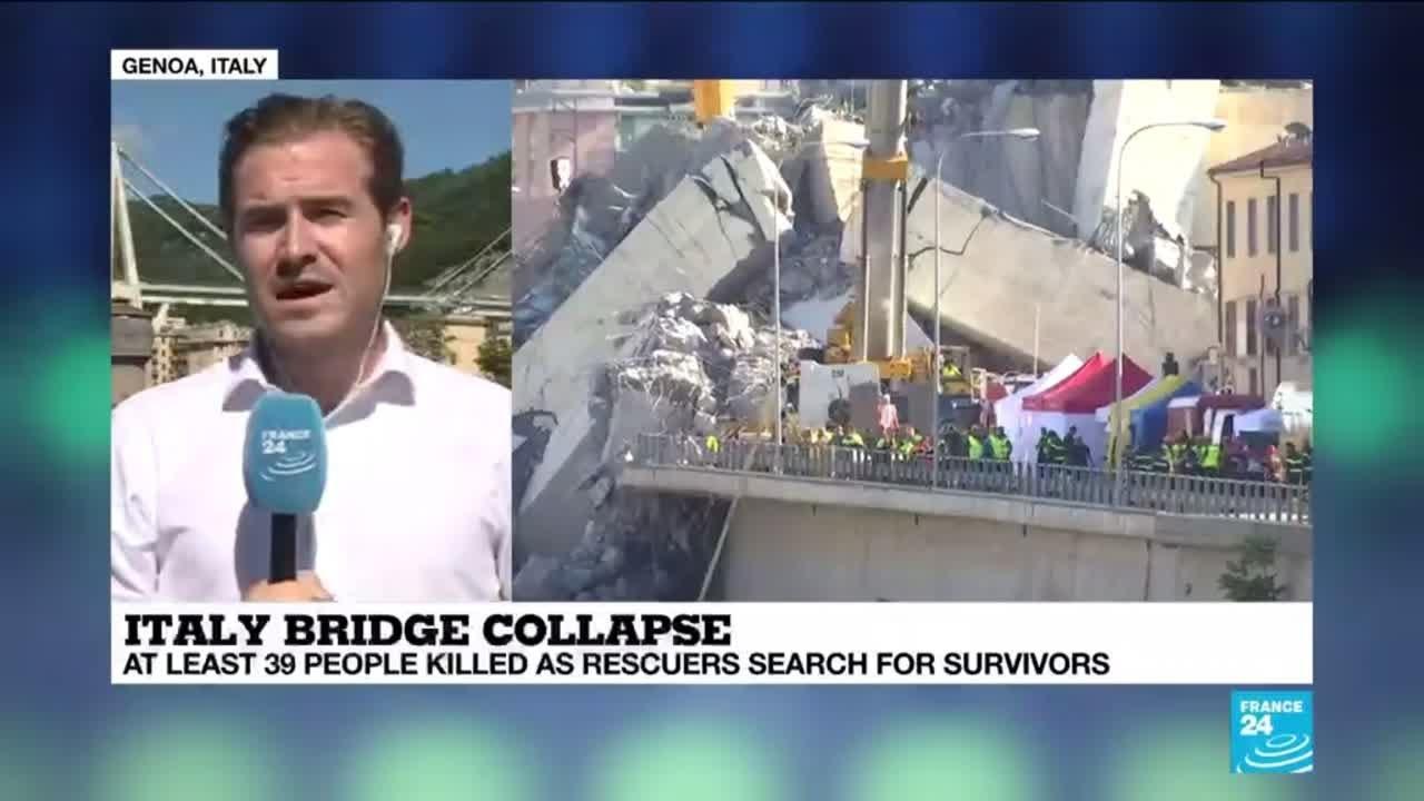 فرانس 24:ITALY BRIDGE COLLAPSE: Gruesone search for survivors underway