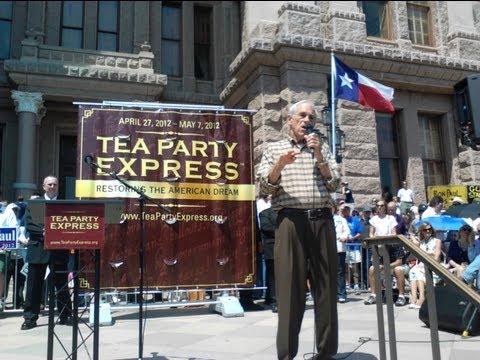 Ron Paul Tea Party Speech, Endorses Ted Cruz