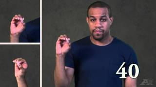 Numbers 1 to 100 in American Sign Language