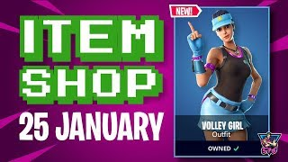 🛒Fortnite Item Shop NEW Volley Girl Skin! | 25th January, 2019