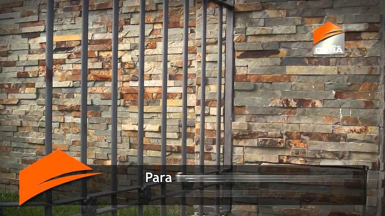 Revestimientos s mil piedra cer micos y pisos youtube - Paneles para paredes exteriores ...