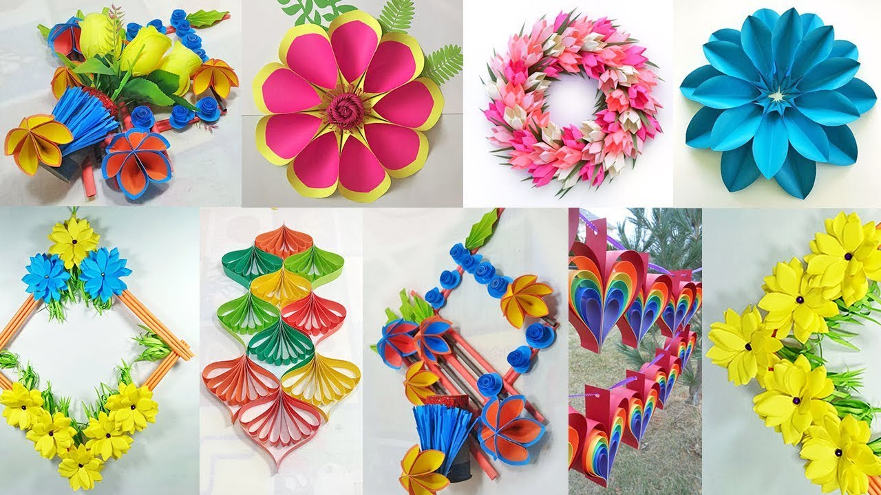 20 DIY Decorations idea with paper at home    Paper craft Decorating Ideas     Home Decor Project