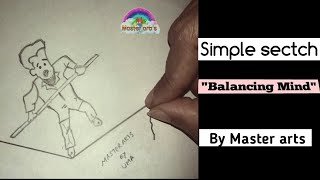 How to draw a Simple pencil drawing||By Master arts 2018