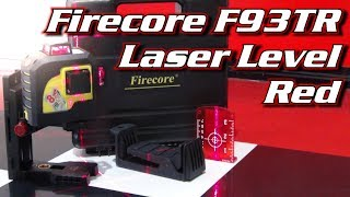 🔻 How to use a Laser Level 🔻 Firecore F93TR 🔻3-Plane 360 Degree red beam Laser Level unboxing