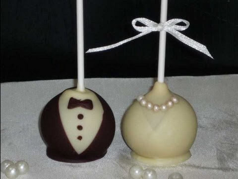 Braut & Bräutigam Cake Pops/ Bride & Groom Cake Pops