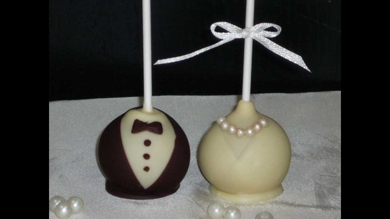 Groom And Bride Cake Pops