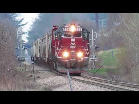 Vermont Railway freight with MP15AC leaving Burlington VT