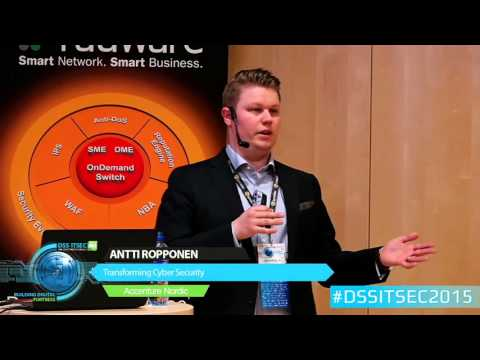 Antti Ropponen, Accenture Nordic, Cyber Defence Lead