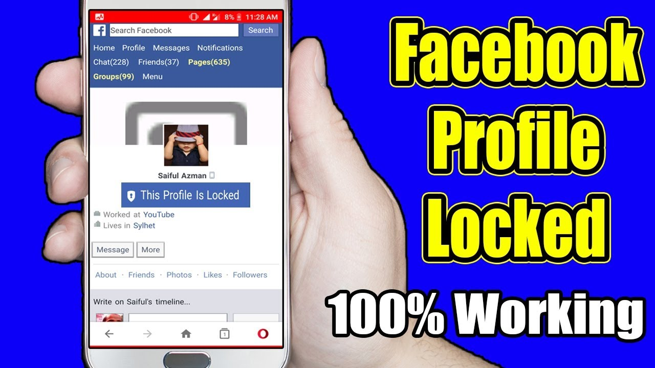 How To Lock Your Facebook Profile For Extra Security 2019 Youtube