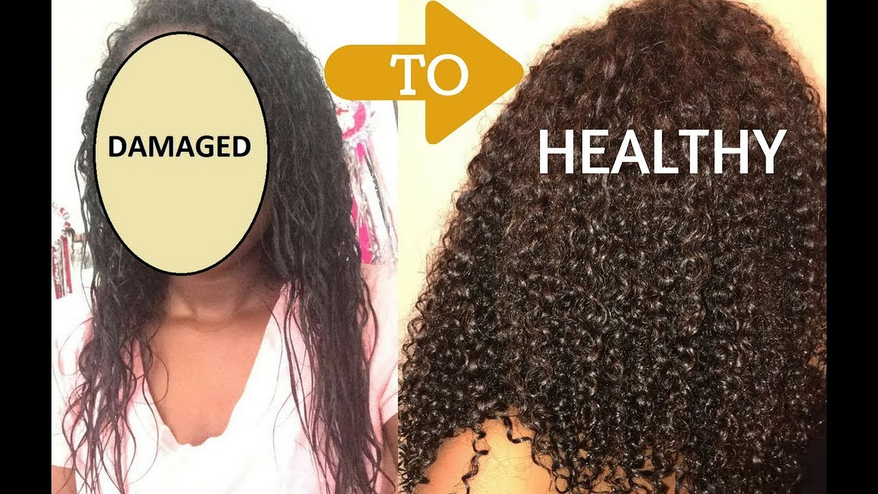 HOW I REPAIRED MY HEAT DAMAGED HAIR USING 12 STEPS!!!!!!