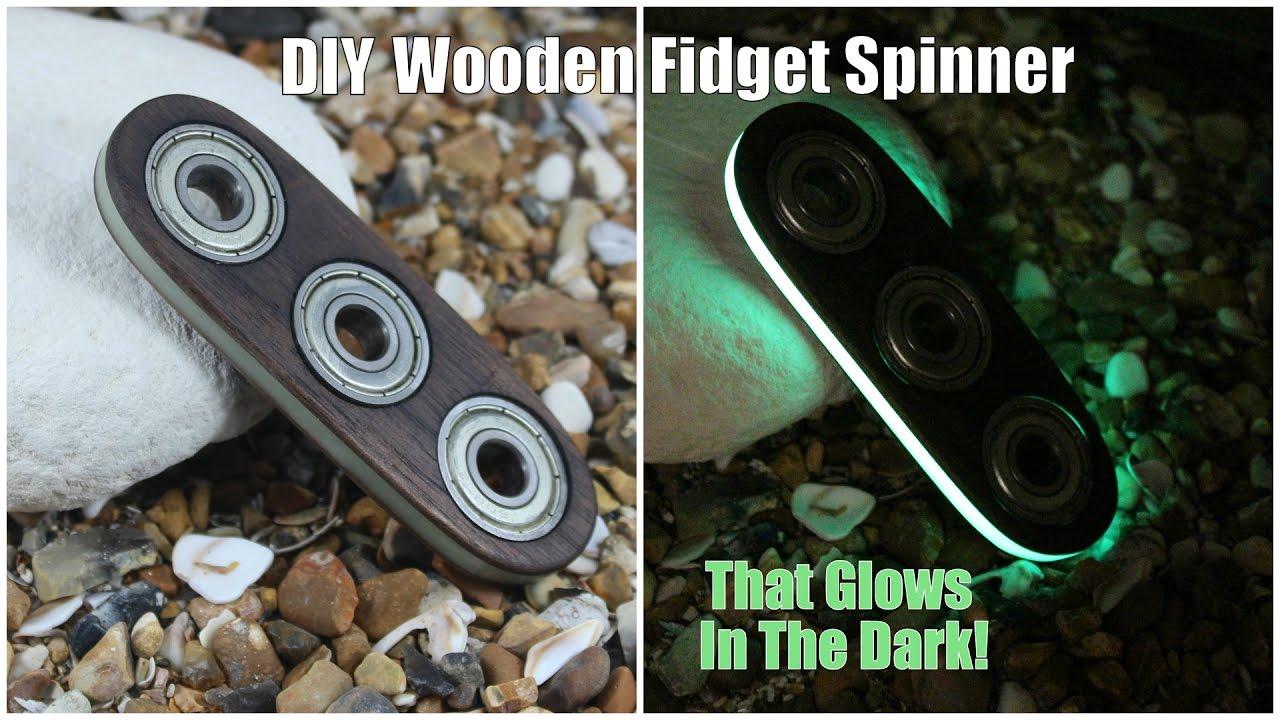 DIY Wooden Fidget Spinner That Glows In The Dark - YouTube