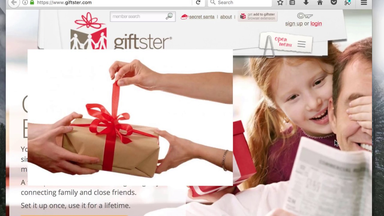 giftster gift exchange app review great for christmas lists youtube