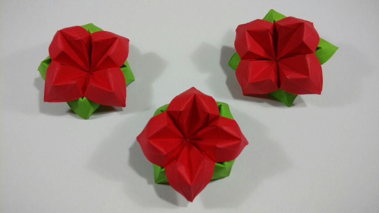 Origami Flowers Very Easy Easy To Make Origami Flowers Car Interior