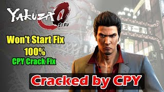 YAKUZA 0 Cracked by CPY - CPY Crack Fix Working 100%