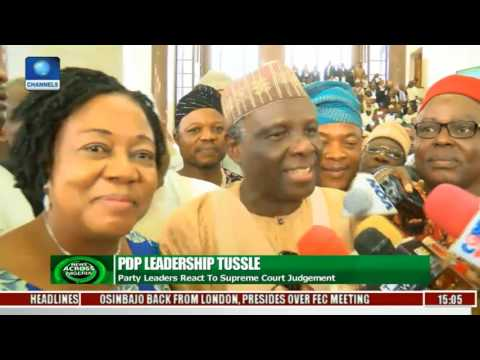 News Across Nigeria: PDP Leaders React To Supreme Court Judgement