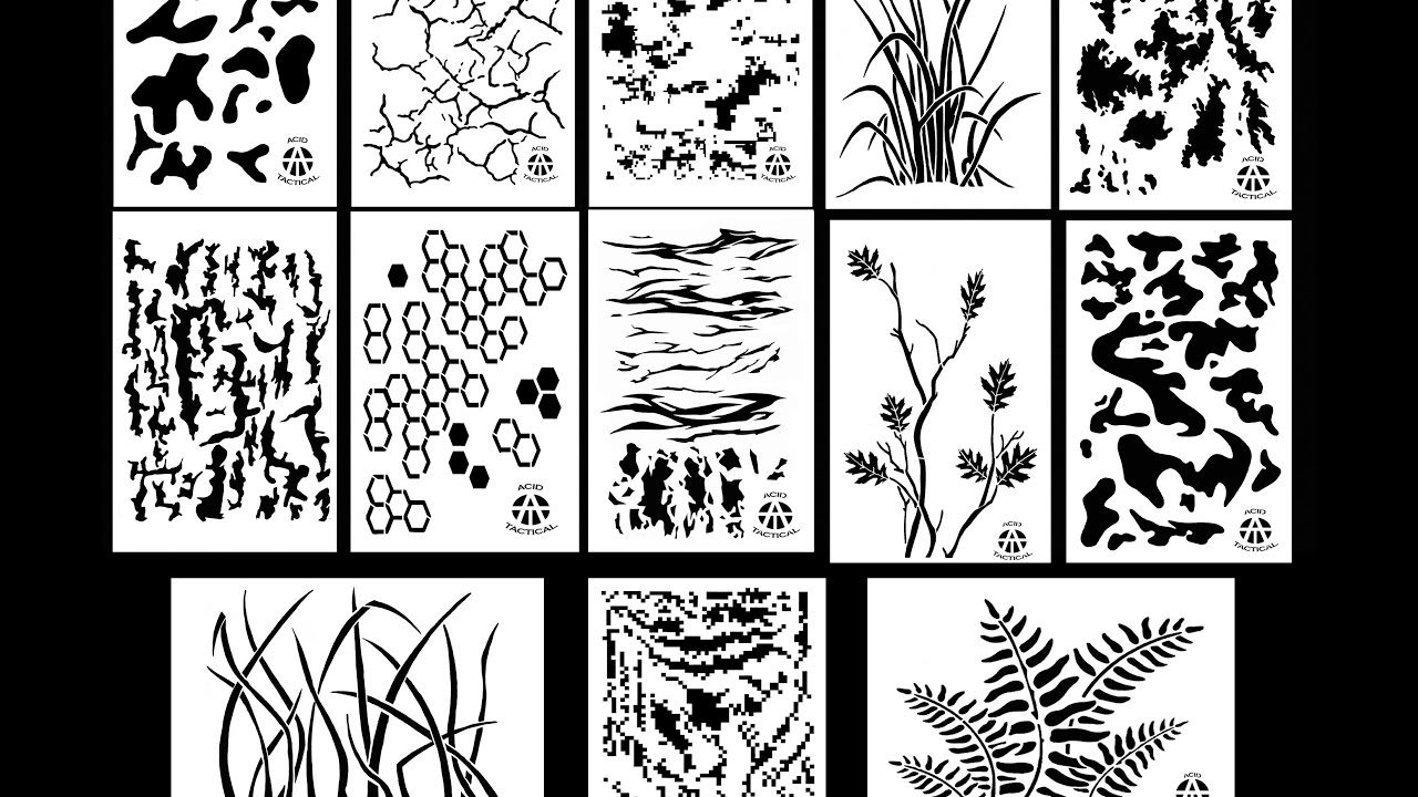 This is a graphic of Transformative Printable Stencils for Painting