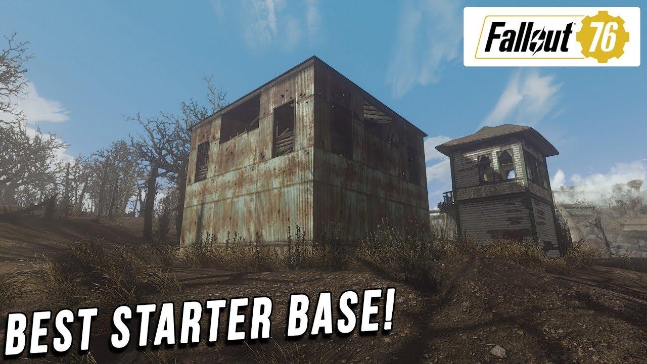 Fallout 76 - Best Starter base - YouTube